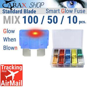 Fuse-STANDARD-blade-smart-regular-fuse-automotive-LED-Glow-Blown-ATC-ATO-mix-set