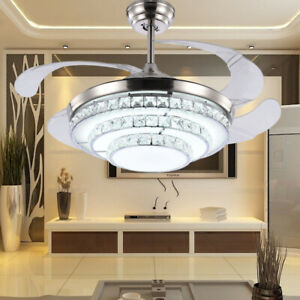 42-034-Invisible-Crystal-Ceiling-Fan-Lamp-Remote-Control-3-Color-Dimmable-LED-Lamp