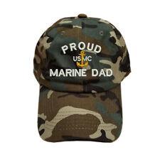 100/% Cotton Military Bucket Cap PROUD U.S MARINE DAD LOGO USMC DAD