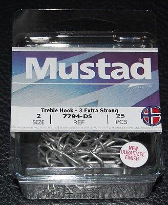 Choose Size Mustad 36328NPDS  3//0-7//0 Kaiju Treble Hooks 7X Strong Durasteel