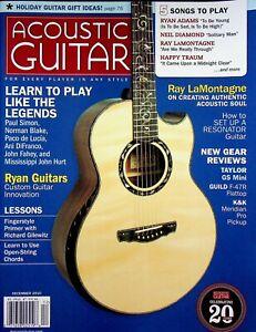 Acoustic Guitar Magazine December 2010 Ray LaMontagne Authentic Soul m574