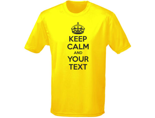 Keep calm your Custom Text Funny T-Shirt Unisex Children