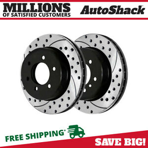 REAR DRILLED AND SLOTTED BRAKE Rotors For 2004-2011 F150 2006-2008 Mark LT