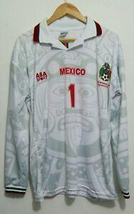 1998 Calendario.Details About Mexico Wc France 1998 Away Long Sleeved Shirt Calendario Azteca Jersey Maillot