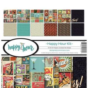 12x12 Scrapbook Paper Margarita Beer Drinks Appletini Martini Cocktails Party