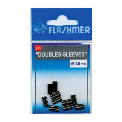 FLASHMER Pêcher de serrage douilles quetschhülsen-double de serrage 1,0 mm 10 pièces