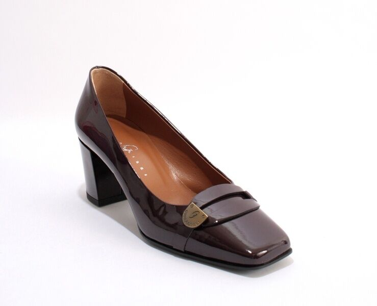 Gibellieri 103 Burgundy Patent Leather Square Toe Toe Toe Buckle Pumps 40.5   US 10.5 f5f83f