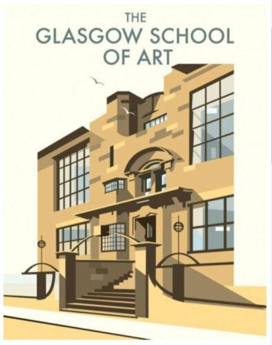 "Glasgow School of Art Art Deco style Art Print 14/"" Print"