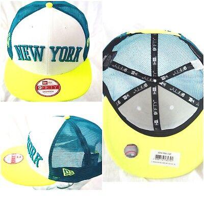 100% Wahr New Era Trucker Kappe,york Limettengrün Baseballkappe,9fifty Herren & Damen