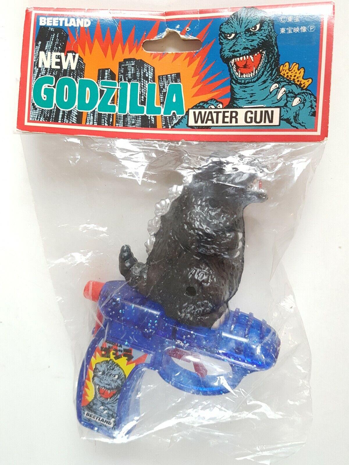 Godzilla Beetland Rara Vintage Plástico de pistola Pistola de Agua Juguete Japón Sin usar