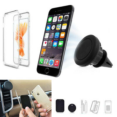 MAGNET AUTO HALTERUNG f Apple iPhone 7 Plus Lüftungs KFZ Halter mit Silikon Case