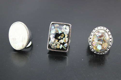 35pcs Lady/'s Ring Fashion Jewelry Party Gift Wholesale Lots Resin Rings AH540