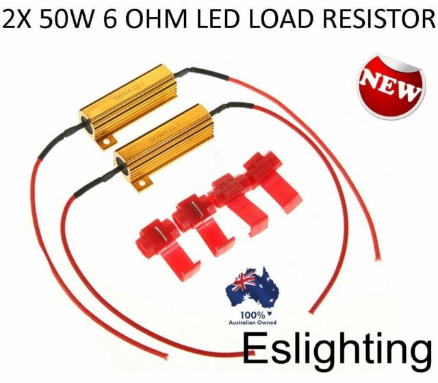 2X 50W LED LOAD RESISTOR 12V LIGHTS FRONT REAR INDICATOR HYPER FLASHING CAR UTE