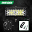 AMBOTHER LED Light Bar 7 Inch 240W 24,000lm Off Road Lights Pods Spot Flood Row