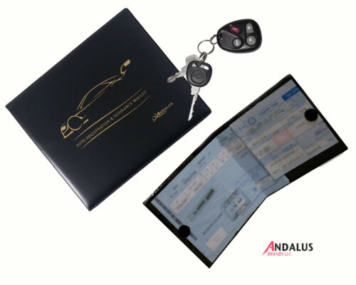 ANDALUS Car Registration and Insurance Document Holder Wallet 3Pack