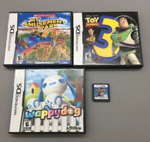 Nintendo-DS-Lot-4-Games-Toy-Story-3-Mario-Hoops-Fast-Free-Shipping-D31