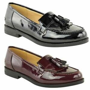 outlet boutique hot sale best prices Details about WOMENS LADIES FLAT TASSEL LOAFERS SMART CASUAL SCHOOL OFFICE  WORK SHOES SIZE