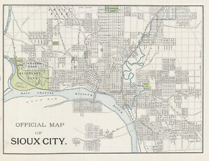 1899-Official-Map-of-Sioux-City-IOWA-by-George-Cram