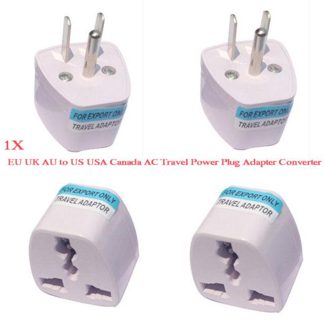 Universal EU UK AU to US USA Canada AC Travel Power Plug Adapter Converter