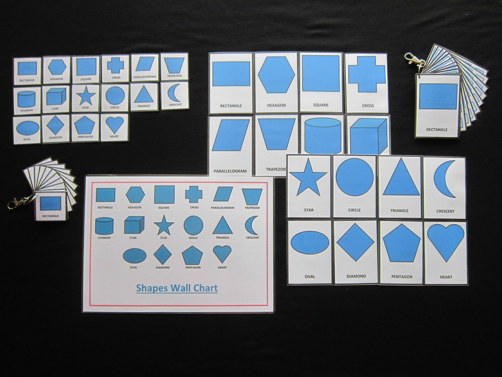 Shapes Cards bluee - PECS Autism Choice Board Dementia Speech Loss Visual Aids
