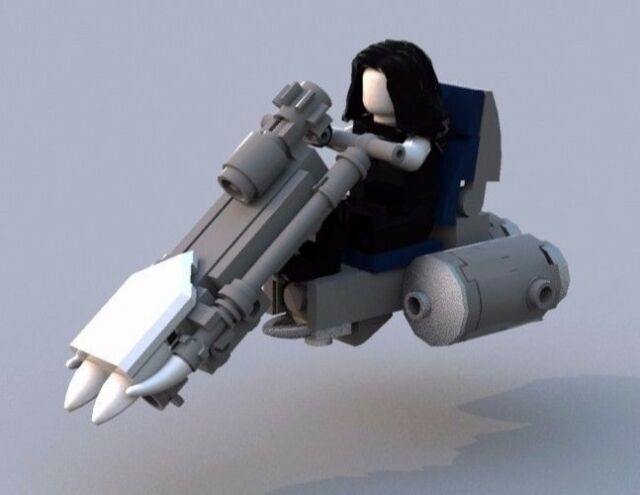 Custom LEGO Lobo's Spacehog - Instructions and Parts List Only