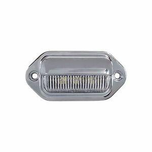 NEW LED LICENSE PLATE TAG LIGHT CHROME BOAT TRAILER RV TRUCK INTERIOR STEP LIGHT