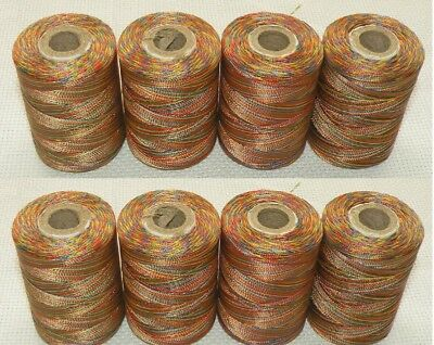 4 Spools Rainbow 800 Yards Colour Extra Strong Nylon Thread Large Spools