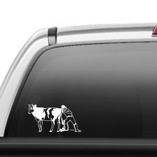 """Love Dairy Cows 6/"""" Car Vinyl Sticker Decal cattle milk holstein 4H FFA I *J15*"""