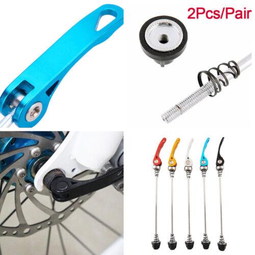 2Pcs//Pair Aluminium Wheel Hub Skewers Bicycle Quick Release Bike Bolt Lever
