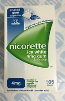 Nicorette Icy White 4mg Gum Nicotine 105 Pieces