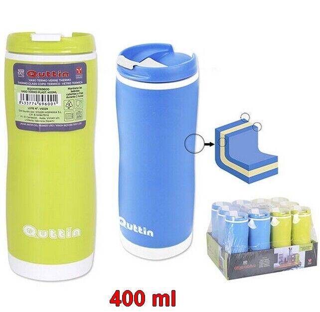 Vaso botella Térmica termo 400 ml Quttin, para caliente y frío, de...
