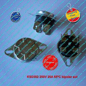Termostato-1Pz-KSD302-250V-20A-65-C-NC-bipolar-Auto-Reset-Thermo