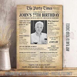 BIRTHDAY-Vintage-Gift-Present-Print-PHOTO-VARIOUS-BACK-IN-YEARS-Newspaper-37