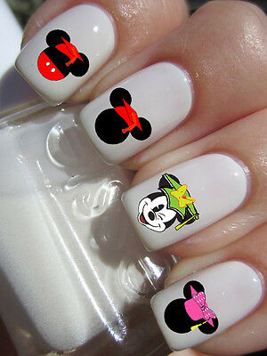 40 Disney Mickey Mouse Graduation Cap Nail Art Decal Kid L N Ly