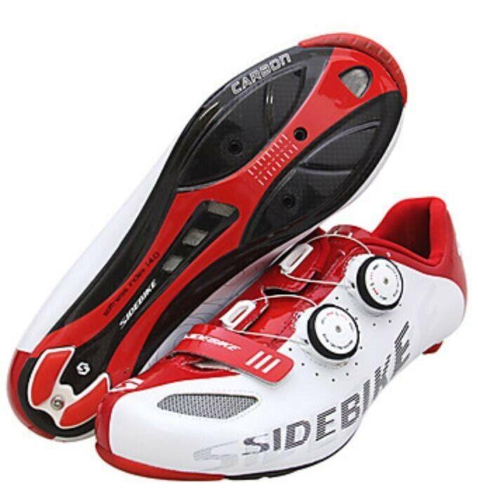 SIDEBIKE Road Bike schuhe Carbon Fiber Waterproof Breathable Anti-Slip Cycling Re