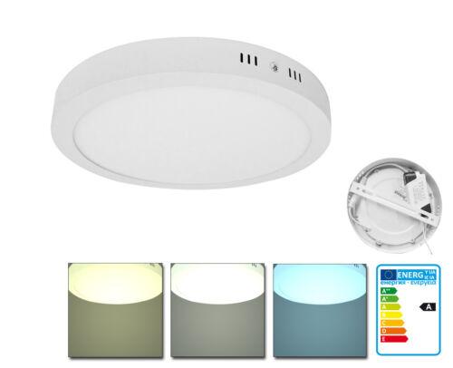LED 6-24W Aufbau Panel Deckenlampe Leuchte Aufputz Flach Wach Rund//Eckig Lampe