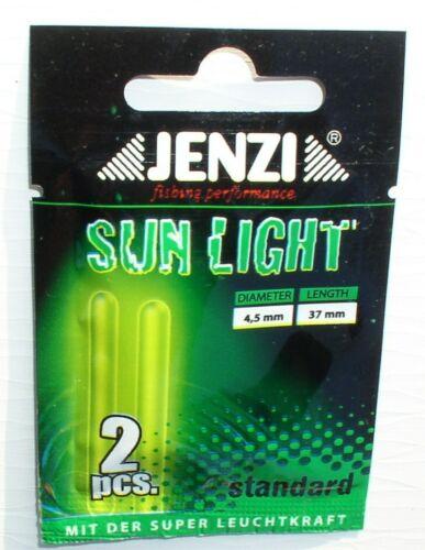 10 Stück grüne Knicklichter 4,5 x 37 mm Aalangeln Nachtangeln Knicklicht