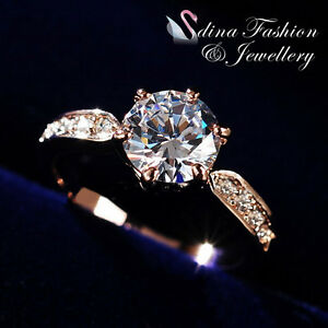 18K-Rose-Gold-GP-Made-With-Swarovski-Element-2-0-ct-Side-Stone-Engagement-Ring