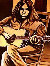 NEIL YOUNG PRINT poster decade cd harvest moon rock n roll cowboy martin guitar