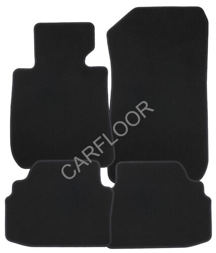 Für Jaguar XJ 6-XJ 12 Serie 3 Fußmatten Velours  Deluxe schwarz mit Befestigung