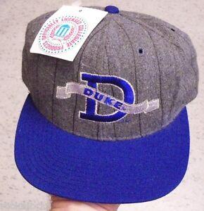 Duke-HAT-SNAPBACK-VINTAGE-mint-w-Tags-melton-wool-NCAA-Laettner-Hurley-Hill-Era