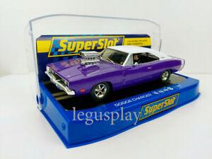Slot Car Scalextric Superslot H4148 Dodge Charger (Purple)