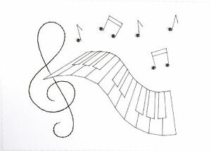 Hand-Made-Stitched-Card-Music-Treble-Clef-Keyboard-Birthday-Congratulations