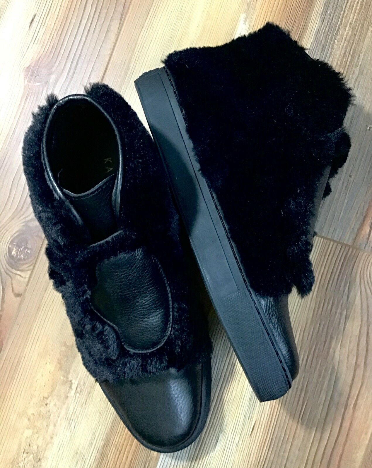 New New New Katy Perry shoes Booties The Honey Claw Black Faux Fur SIze 6 65689f