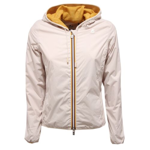 8893V giubbotto donna K-WAY LILY MESH  beige windproof jacket woman