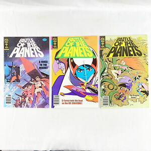 Battle-of-the-Planets-1-2-and-4-GOLD-KEY-1979-1st-Russo-Brothers-Appearances