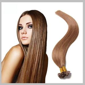 Dettagli Su 100 Extension Dei Capelli Posa Caldo 100 Naturali Remy Hair Castano Nocciola