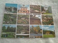Vintage postcard, GREETINGS FROM NORTH CAROLINA,