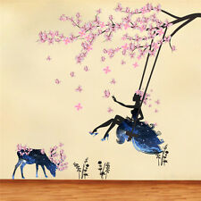 DIY Flower Fairy Girl Butterfly Wall Sticker Decals Vinyl Removable Room Decor