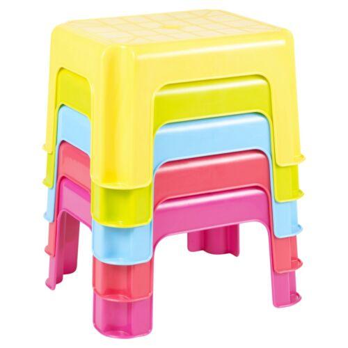 Multi Purpose Sturdy Plastic Step Stool Stackable Kids Seat Anti-Slip Foot High